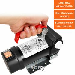 Motor Oil Diesel 12v 10gpm Transfer Pump Kit Electric Fuel Extractor Pump Set