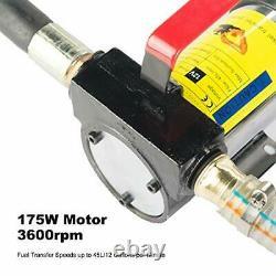 Motor Tech Diesel Transfer Pump Kit 12V Volt DC Fuel Self Priming Oil 45L