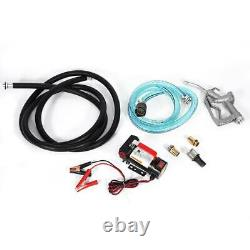 Oil Extractor Pump Auto Diesels Oil Fuel Transfer Pump With Fuel Nozzle 12V US