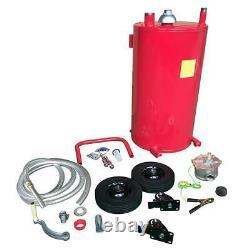 Oil Gas Dispenser Caddy Diesel Fluid Fuel Transfer Storage Tank Rotary Pump Hose