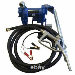 Portable 12V 265W Electric Oil Diesel Fuel Transfer Extractor Pump With Nozzle Kit
