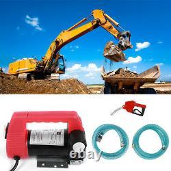 Portable 12V Oil Diesel Transfer Pump Fuel Fluid Extractor Electric Pump 40L/min