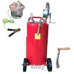Portable 35 Gallon Diesel Caddy Gas Fuel Storage Tank Transfer Oil Pump