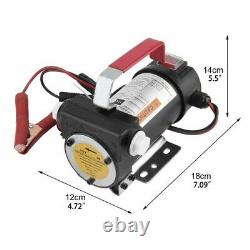 Portable Electric 12V 155W Fuel Transfer Extractor Pump Diesel Kerosene Oil Fuel