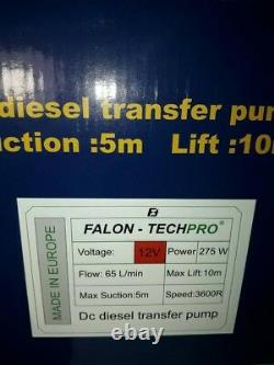 Pump pump, 12v for transferring DIESEL fuel, oil, gasoline, water