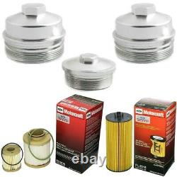 Rudy's Billet Filter Caps & Motorcraft Filters For 03-07 Ford 6.0L Powerstroke