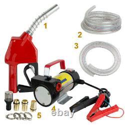 Safty Electric Fuel Transfer Pump Diesel Kerosene Oil Commercial Auto Portable
