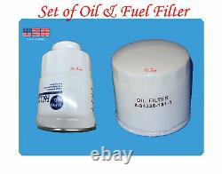 Set of Engine Oil Filter & Fuel Filter Fits Chevrolet GOMC Isuzu 5.2L Diesel