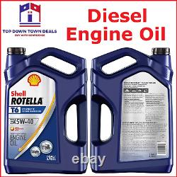 Shell Rotella T6 5W-40 Heavy Duty Engine Oil Full Synthetic Fuel Economy 1 GAL